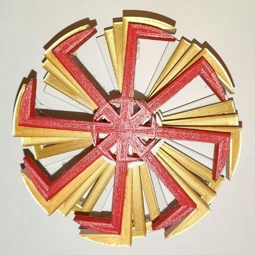 Swarzyca 3D RED Miękki Filament – wymiary 12x12x1.5cm –>> Soft Filament – dimensions 12x12x1.5cm